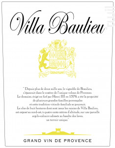 Villa Baulieu - Villa Baulieu - 2015 - Rouge
