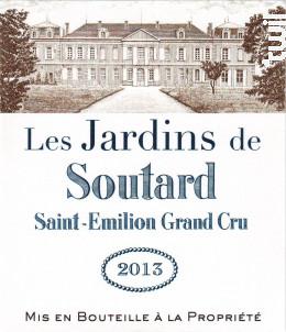 Les jardins de soutard - Château Soutard - 2013 - Rouge