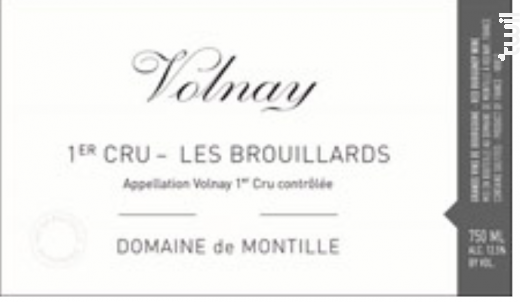 Volnay 1er Cru les Brouillards - Domaine de Montille - 2015 - Rouge