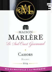 Cahors - Maison Marlère - 2014 - Rouge