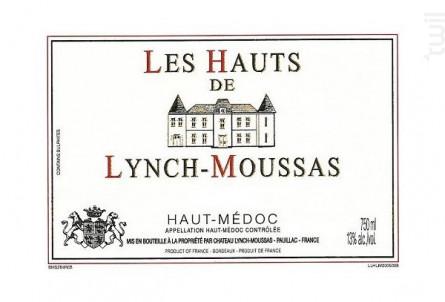 Les Hauts de Lynch-Moussas - Château Lynch-Moussas - 2018 - Rouge