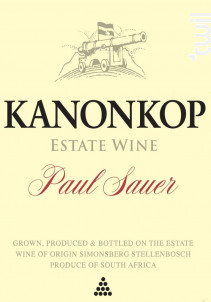 Paul Sauer - KANONKOP - 2017 - Rouge
