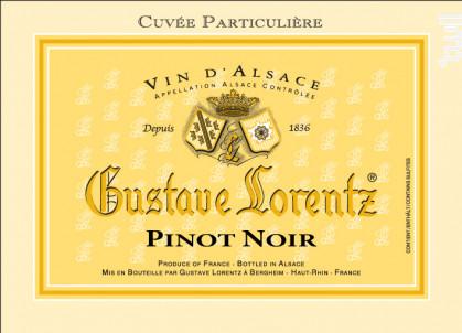 Pinot Noir Cuvée Particulière - Gustave Lorentz - 2017 - Rouge