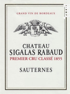 Château Sigalas Rabaud - Château Sigalas Rabaud - 2014 - Blanc