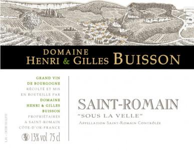 Saint-Romain Sous la Velle - Domaine Henri & Gilles Buisson - 2018 - Blanc