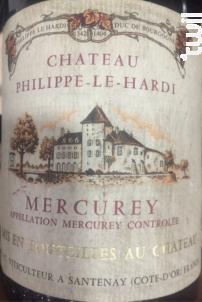 Mercurey - Château Philippe-le-Hardi - 1986 - Rouge