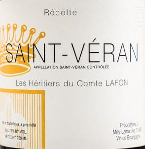 Saint-Véran - Domaine Les Héritiers du Comte Lafon - 2016 - Blanc
