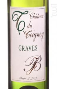 T DU TEIGNEY GRAVES - Château Teigney - 2015 - Blanc