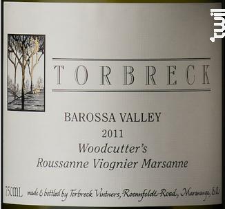 Woodcutter's - roussane, viognier, marsanne - TORBRECK - 2011 - Blanc