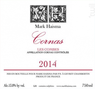 CORNAS - Mark HAISMA - 2016 - Rouge