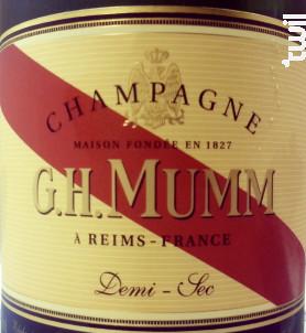Mumm Demi-Sec - G.H. Mumm - Non millésimé - Effervescent