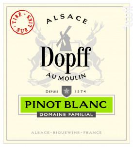 Pinot Blanc Tiré sur Lies - Dopff Au Moulin - 2016 - Blanc