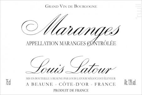 MARANGES - Maison Louis Latour - 2015 - Rouge