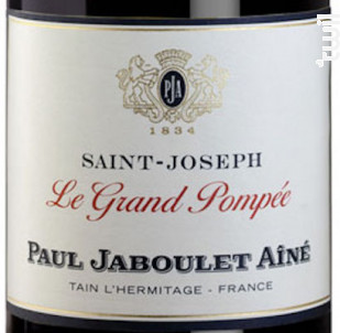 Le Grand Pompée Saint-Joseph - Paul Jaboulet Aîné - 2017 - Rouge