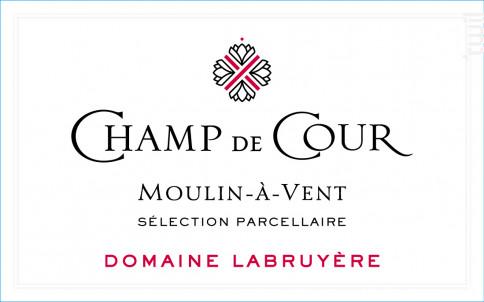 Champ de Cour - Domaine Labruyère - 2013 - Rouge