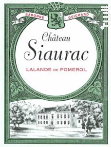 Château Siaurac - Château Siaurac - 2013 - Rouge