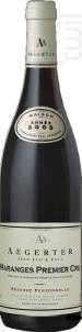 Maranges 1er Cru Vieilles Vignes - Jean Luc et Paul Aegerter - 2017 - Rouge