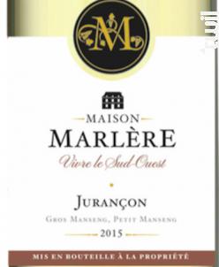Jurançon Moelleux. - Maison Marlère - 2016 - Blanc