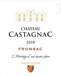 Château Castagnac - Fronsac - Vignobles Coudert - 2018 - Rouge