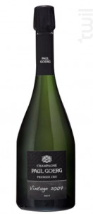 Brut Millésime 2007 - Premier Cru - Champagne Paul Goerg - 2007 - Effervescent