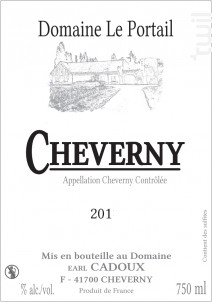 Cheverny - Domaine Le Portail - 2019 - Rouge