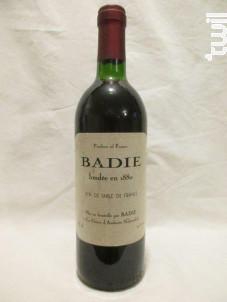 Badie - Maison Badie - Non millésimé - Rouge