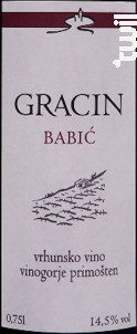 Gracin Babic - Suha Punta - 2010 - Rouge