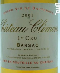 Château Climens - Château Climens - 2001 - Blanc
