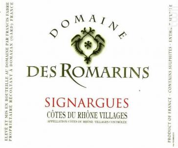 Signargues - Domaine des Romarins - 2018 - Rouge