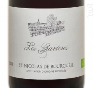 Les Gravières - Domaine Amirault, le Clos des Quarterons - 2015 - Rouge