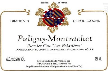 Puligny-Montrachet Premier Cru Les Folatières - Domaine Bzikot - 2018 - Blanc