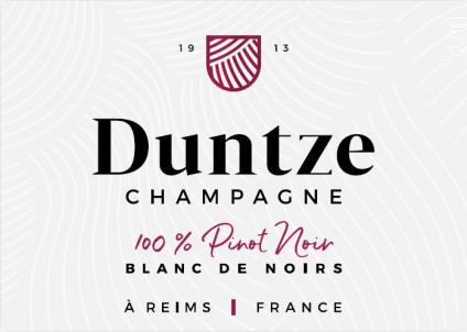 100% Pinot Noir - Brut - Champagne Duntze - Non millésimé - Effervescent