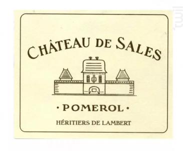 Château de Sales - Château de Sales - 2019 - Rouge