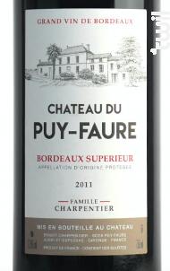 Château du Puy-Faure - Château du Puy-Faure - 2012 - Rouge