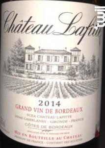 Château Lafitte - Côtes de Bordeaux - Château Lafitte - 1970 - Rouge
