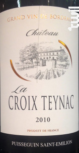 Château la Croix Teynac - Château la Croix Teynac - 2010 - Rouge