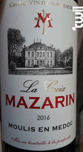 La Croix Mazarin - Coureau & Coureau - 2016 - Rouge