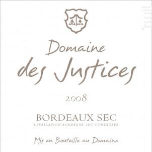 Domaine Des Justices - Château Des Justices - 1989 - Blanc