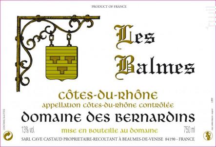 Les Balmes - Domaine Des Bernardins - 2018 - Rouge