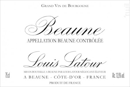 BEAUNE - Maison Louis Latour - 2014 - Rouge