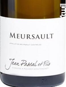 MEURSAULT - Domaine Jean Pascal et Fils - 2016 - Blanc