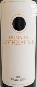 Tradition Rouge - Domaine Richeaume - 2014 - Rouge