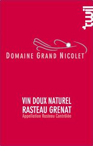 Vin Doux Naturel Rasteau rouge - Domaine Grand Nicolet - 2015 - Rouge
