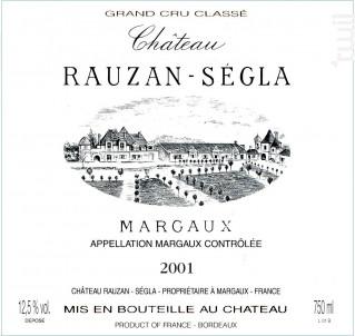 Château Rauzan-Ségla - Château Rauzan-Ségla - 2001 - Rouge
