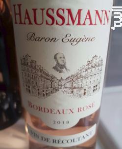 Baron Eugène - Famille Haussmann - 2018 - Rosé