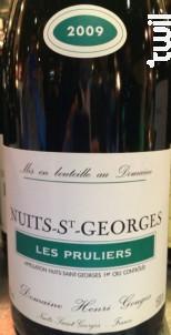 Nuit Saint Georges Les Pruliers - Domaine Henri Gouges - 2011 - Rouge