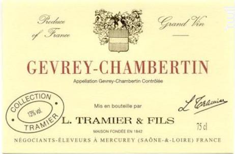 Gevrey-Chambertin - Maison L. Tramier et Fils - 2016 - Rouge