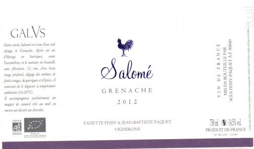 Salomé - Domaine Galus - 2014 - Rouge