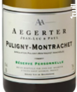 Puligny Montrachet - Jean Luc et Paul Aegerter - 2014 - Blanc