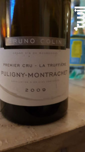 Puligny-montrachet Premier Cru La Truffière - Domaine Bruno Colin - 2016 - Blanc